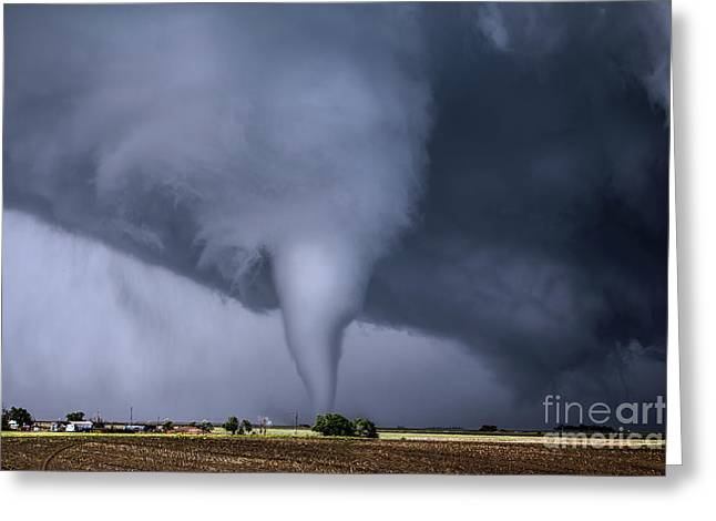 Tornado And House Greeting Card