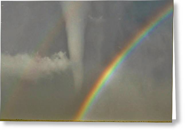Tornado And The Rainbow II  Greeting Card