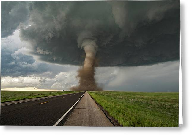 Tornado Crossing Greeting Card by James Hammett
