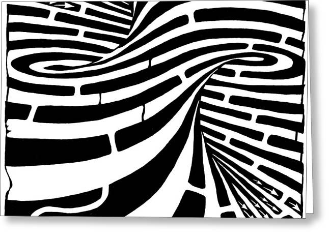 Tornado Maze Greeting Card by Yonatan Frimer Maze Artist