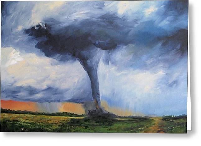 Tornado Greeting Card by Torrie Smiley