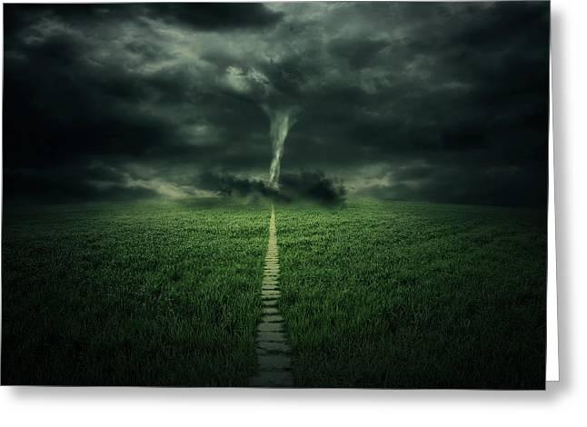 Tornado Greeting Card by Zoltan Toth