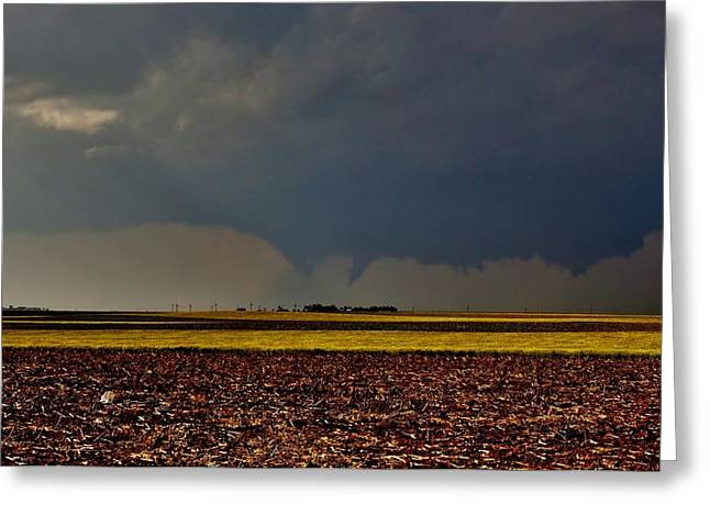 Greeting Card featuring the photograph Tornadoes Across The Fields by Ed Sweeney