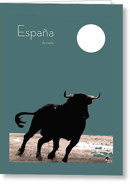 Toro Bravo  Greeting Card by Quim Abella