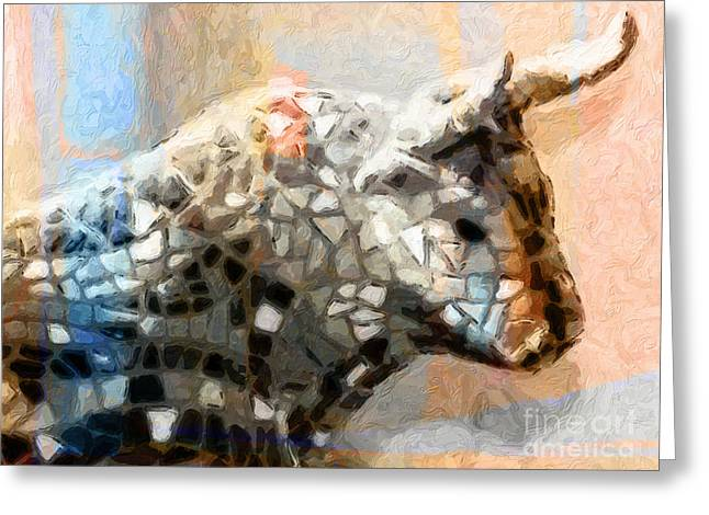 Toro Taurus Bull Greeting Card