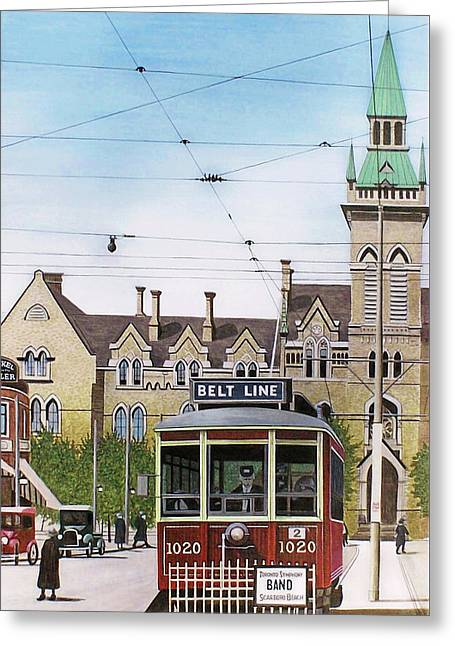 Greeting Card featuring the painting Toronto Belt Line by Kenneth M Kirsch