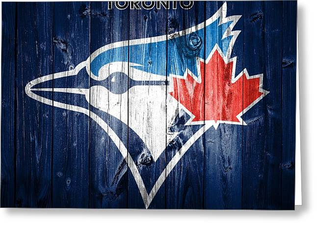 Toronto Blue Jays Barn Door Greeting Card by Dan Sproul