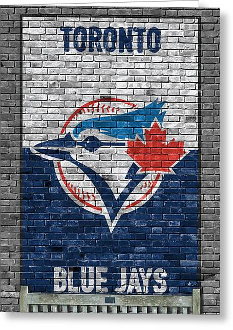 Toronto Blue Jays Brick Wall Greeting Card by Joe Hamilton