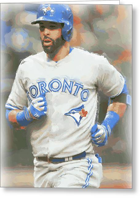 Toronto Blue Jays Jose Bautista Greeting Card by Joe Hamilton