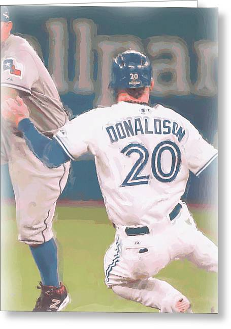 Toronto Blue Jays Josh Donaldson 3 Greeting Card by Joe Hamilton