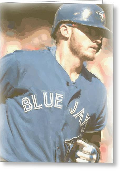 Toronto Blue Jays Josh Donaldson 4 Greeting Card by Joe Hamilton