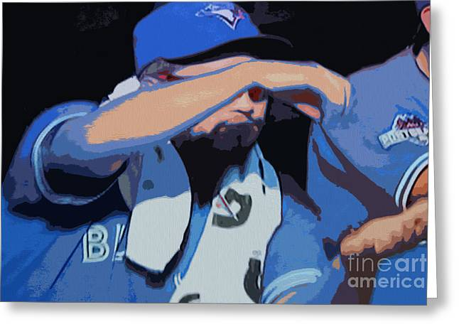 Toronto Blue Jays Stir It Up Greeting Card by Nina Silver