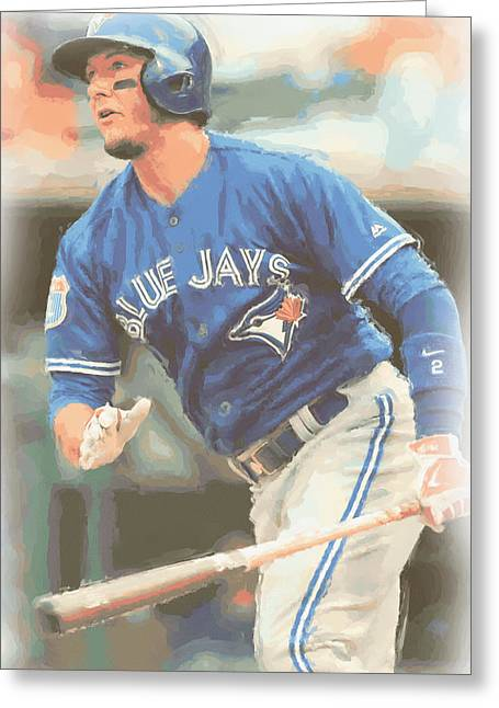 Toronto Blue Jays Troy Tulowitzki Greeting Card by Joe Hamilton