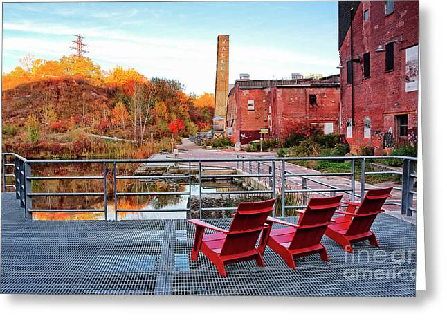 Greeting Card featuring the photograph Toronto Brickworks Autumn View by Charline Xia