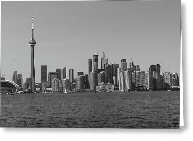 Toronto Cistyscape Bw Greeting Card