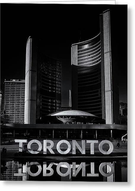 Greeting Card featuring the photograph Toronto City Hall No 1 by Brian Carson