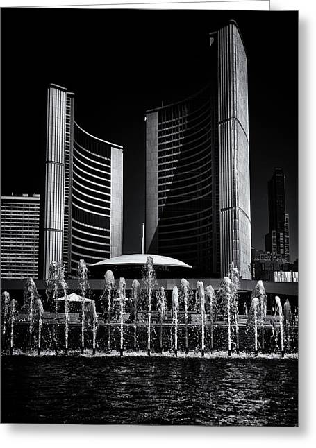 Greeting Card featuring the photograph Toronto City Hall No 25 by Brian Carson
