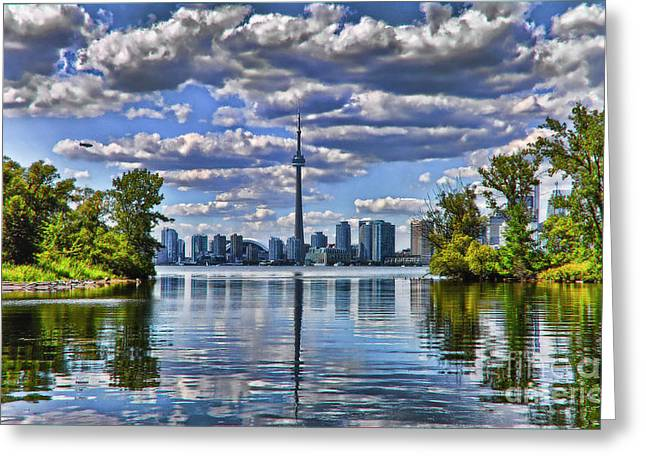 Toronto City View Greeting Card by Elaine Manley