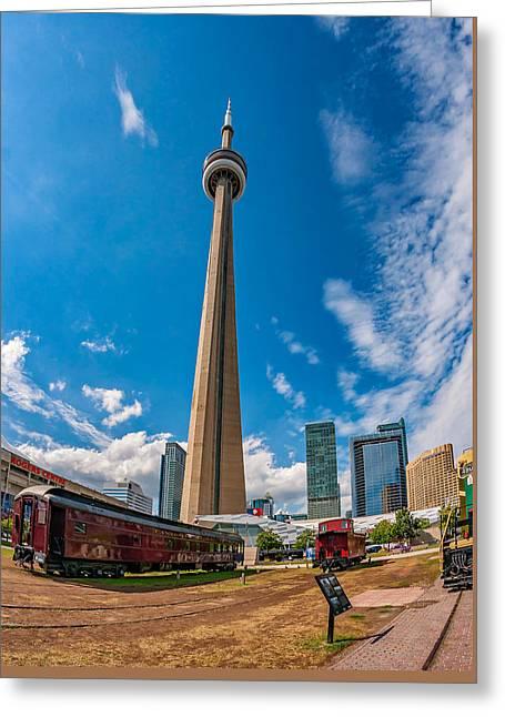 Toronto Cn Tower 3 Greeting Card by Steve Harrington