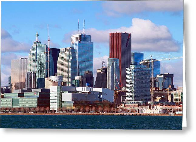 Greeting Card featuring the photograph Toronto Core by Valentino Visentini