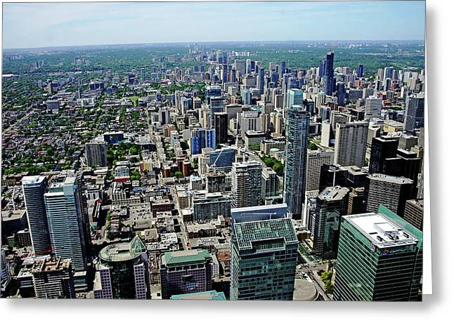 Toronto Ontario Scrapers Greeting Card by Debbie Oppermann