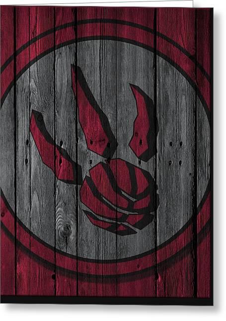 Toronto Raptors Wood Fence Greeting Card