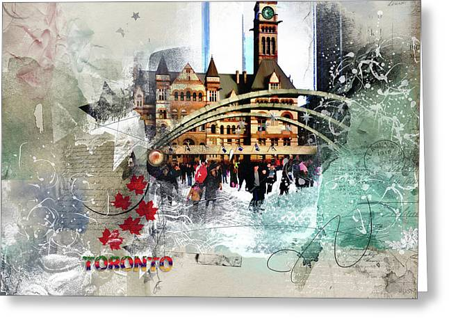 Toronto Skating Greeting Card