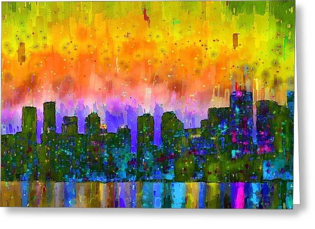 Toronto Skyline 12 - Da Greeting Card by Leonardo Digenio