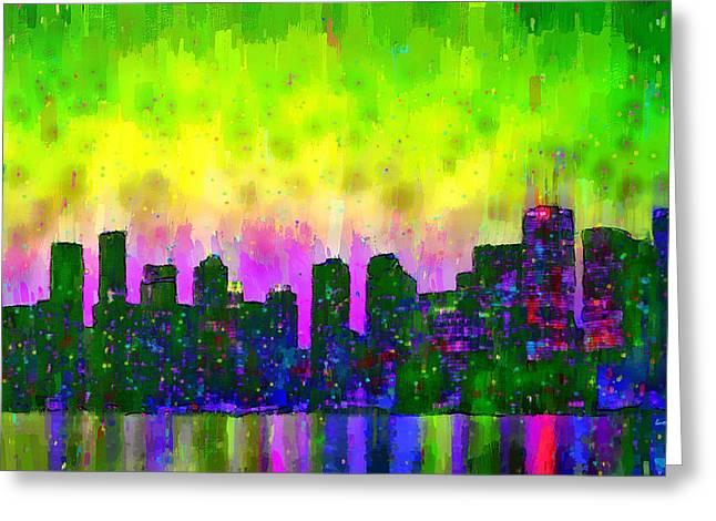 Toronto Skyline 13 - Da Greeting Card