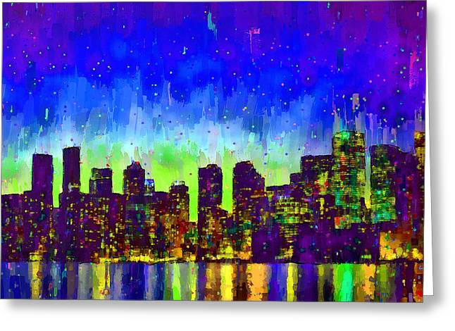 Toronto Skyline 15 - Da Greeting Card by Leonardo Digenio