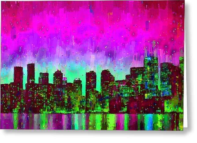 Toronto Skyline 16 - Pa Greeting Card by Leonardo Digenio