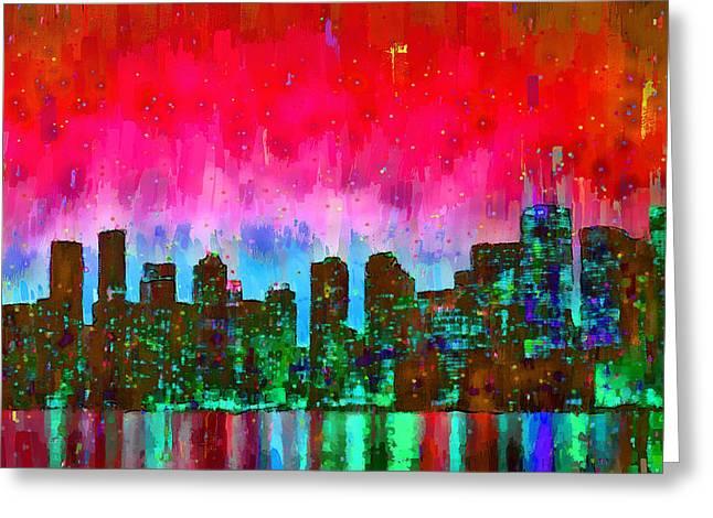 Toronto Skyline 17 - Da Greeting Card by Leonardo Digenio
