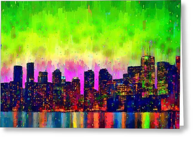 Toronto Skyline 22 - Da Greeting Card by Leonardo Digenio