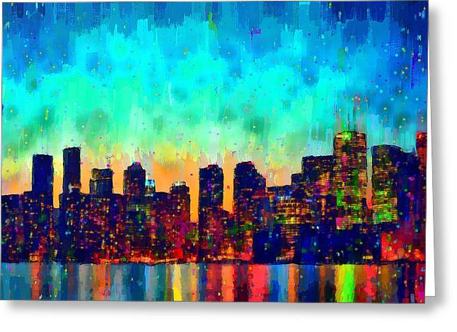 Toronto Skyline 23 - Pa Greeting Card by Leonardo Digenio