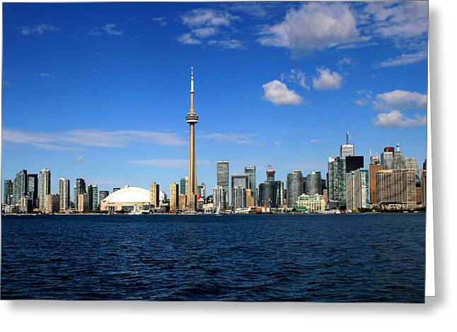 Toronto Skyline 26 Greeting Card by Andrew Fare
