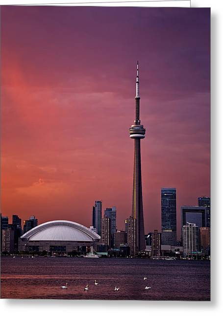 Toronto Sunset Greeting Card