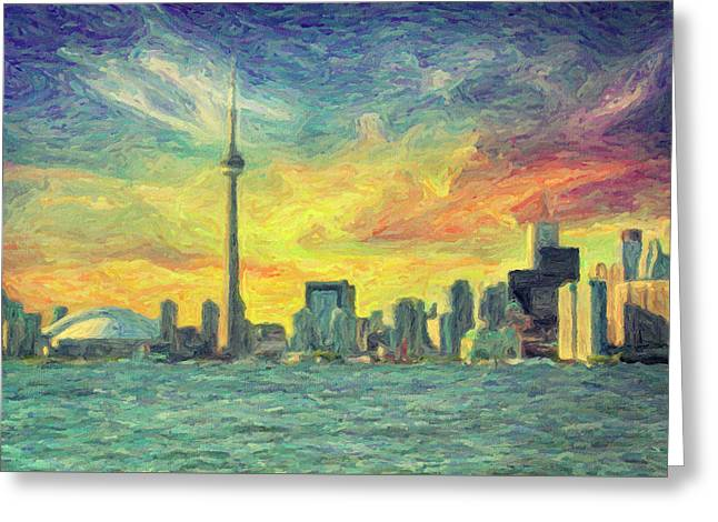 Toronto  Greeting Card by Taylan Apukovska