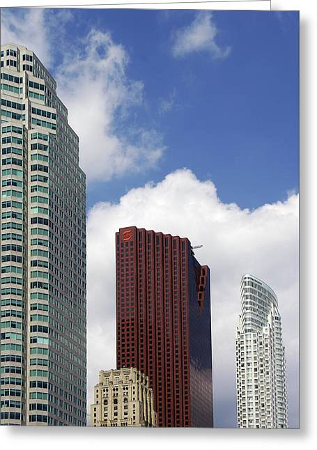 Toronto Towers Greeting Card by Paul Wash