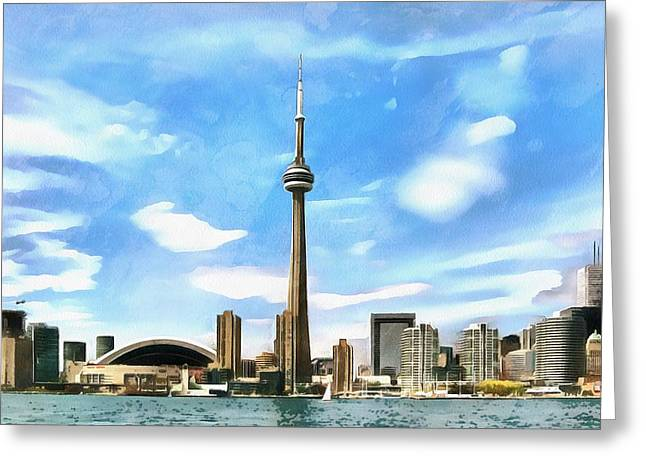 Toronto Waterfront - Canada Greeting Card