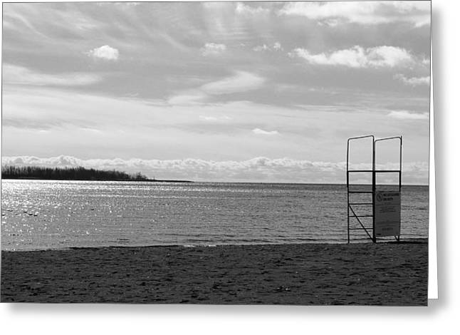 Greeting Card featuring the photograph Toronto Winter Beach by Valentino Visentini