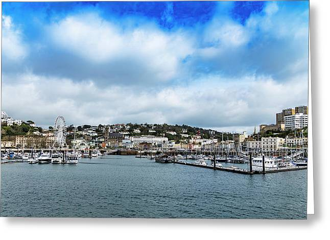 Greeting Card featuring the photograph Torquay Devon by Scott Carruthers