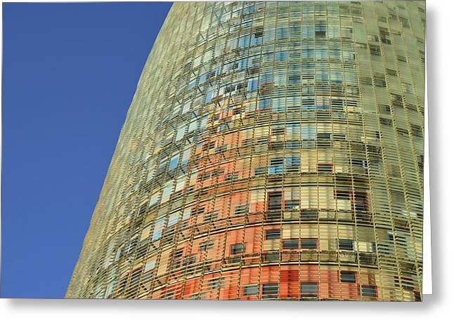 Torre Agbar  Greeting Card by Marek Stepan