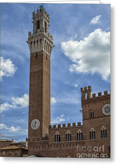 Torre Del Mangia Greeting Card