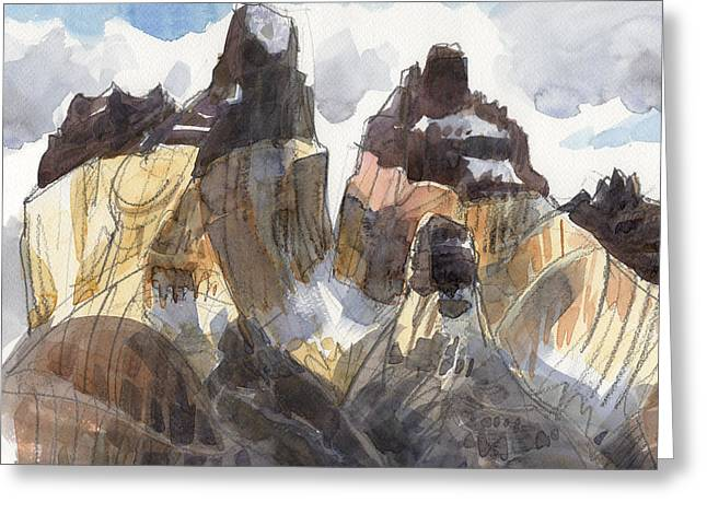 Torres Del Paine, Chile Greeting Card