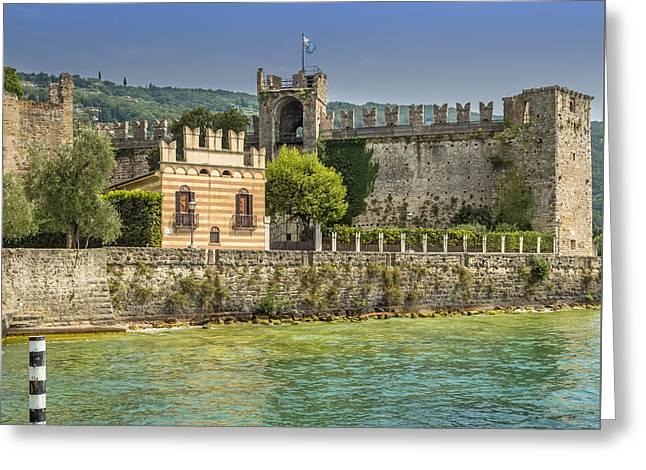 Torri Del Benaco Scaliger Castel Greeting Card by Melanie Viola