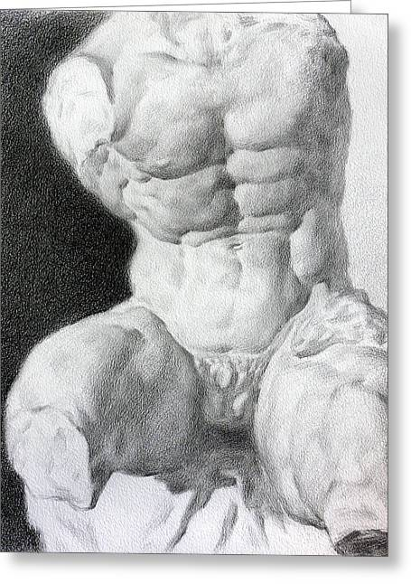 Valeriy Mavlo Drawings Greeting Cards - Torso 1 Greeting Card by Valeriy Mavlo