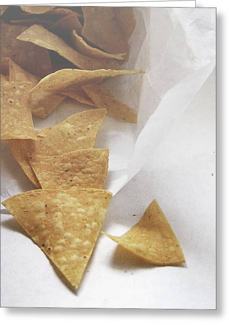 Tortilla Chips- Photo By Linda Woods Greeting Card by Linda Woods