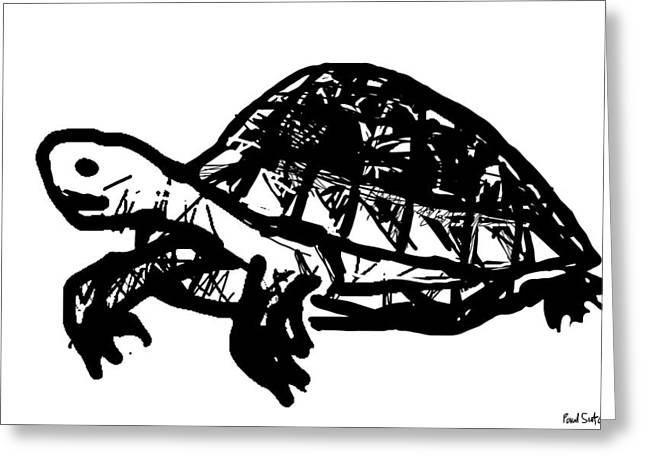 Tortoise  Greeting Card by Paul Sutcliffe