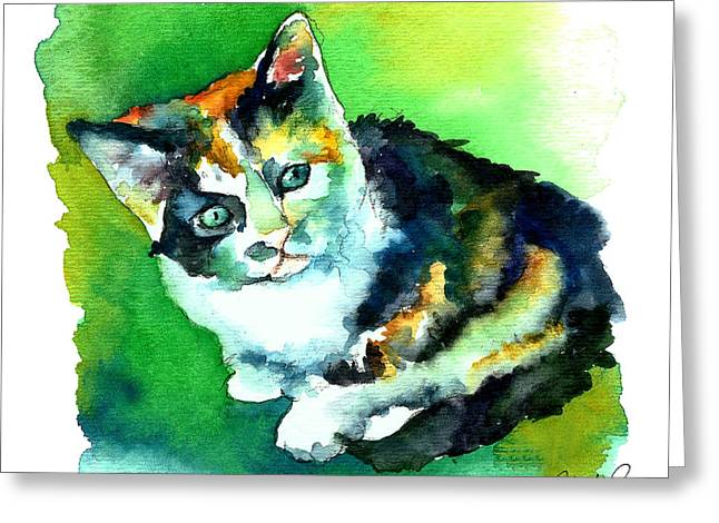 Tortoise Shell Kitten Greeting Card