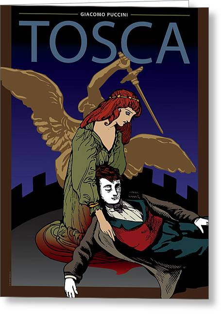 Tragedy Greeting Cards - Tosca Greeting Card by Joe Barsin